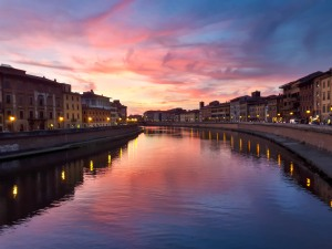 Sunset in Pisa - Photo by Nicola Nobile